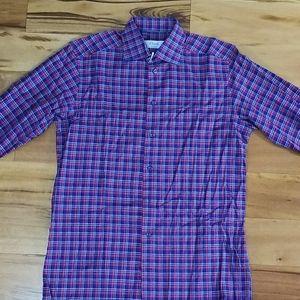 Eton Contemporary Fit Plaid Shirt 15.5 39